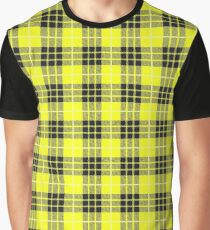 Scotland Woodcutter Buffalo Check Design - Yellow Color Model Graphic T-Shirt