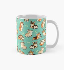 Jolly corgis in green Classic Mug