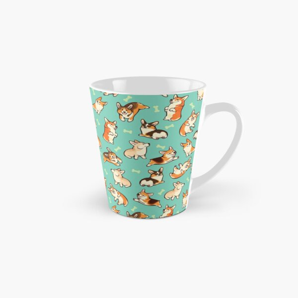 Jolly corgis in green Tall Mug
