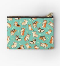 Jolly Corgis in grün Studio Clutch