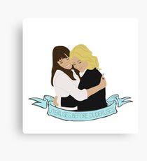 Leslie and Ann Sticker Canvas Print