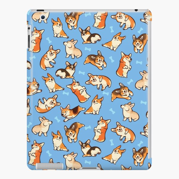 Jolly corgis in blue iPad Snap Case