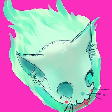 Wisp - ghost cat by m-ersan