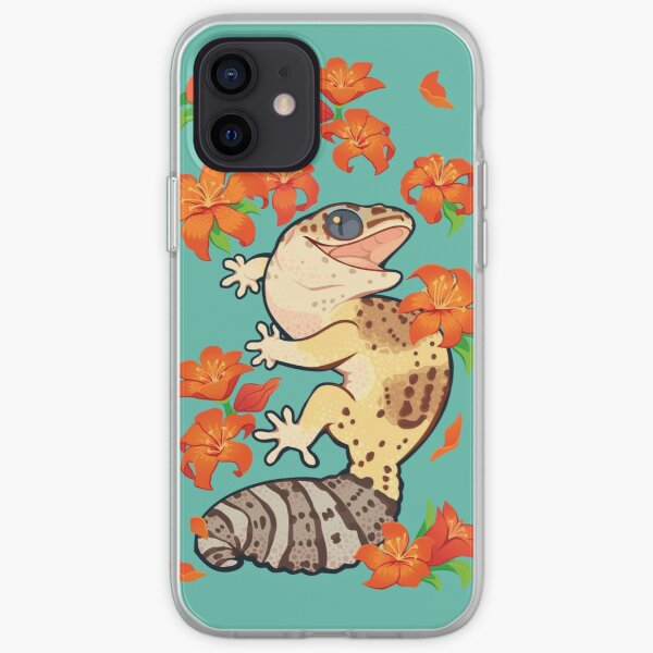 Fire lily gecko iPhone Soft Case