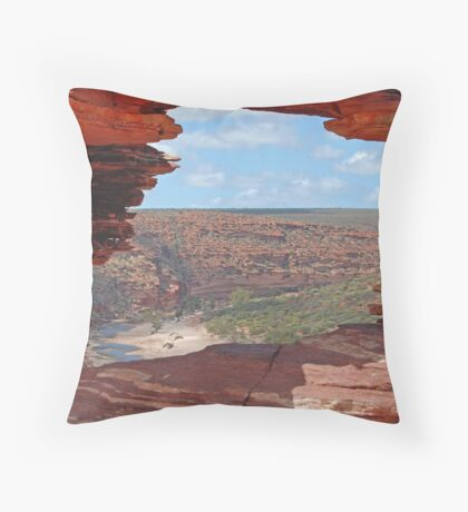 Nature's Window, Kalbarri National Park, Western Australia Throw Pillow