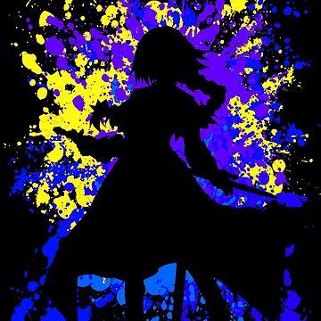 Paint Splatter Jeanne Inspired Anime Shirt by JaneFlame