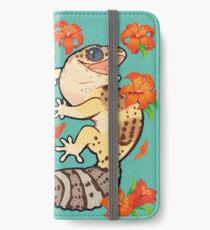 Feuerlilie Gecko iPhone Flip-Case/Hülle/Klebefolie