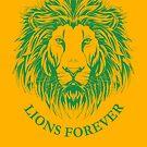 Lions Forever (Grün auf Gold) von teenerd