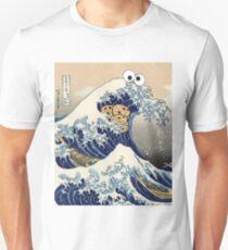 Funny Japanese Cookie Great Wave off Kanagawa T-Shirt Unisex T-Shirt