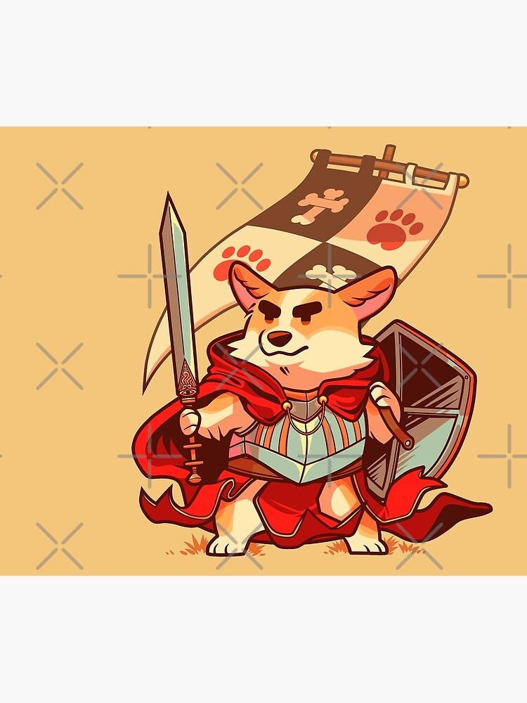 Corgi knight by Colordrilos