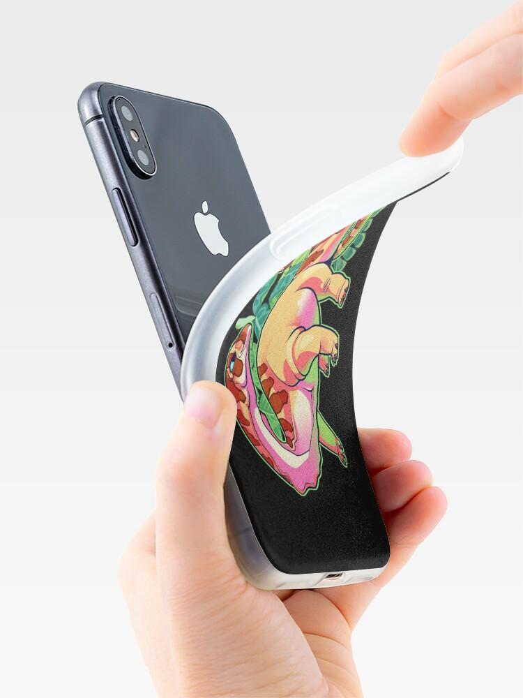 Vista alternativa de Funda y vinilo para iPhone Apatosaurio