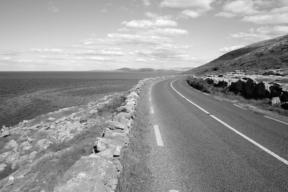 Burren county road by John Quinn