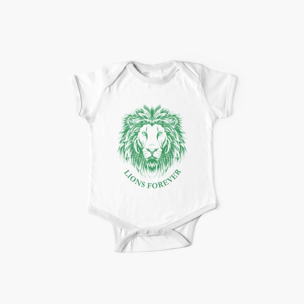 Lions Forever (Grün auf Weiß) Baby Body