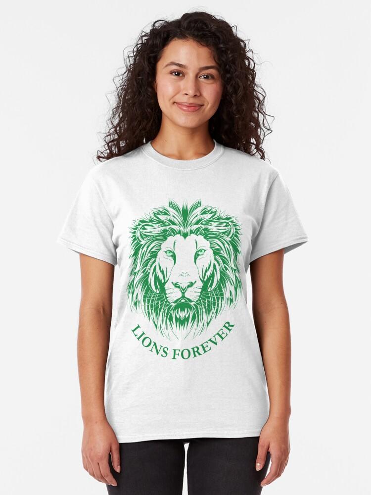 Alternative Ansicht von Lions Forever (Grün auf Weiß) Classic T-Shirt