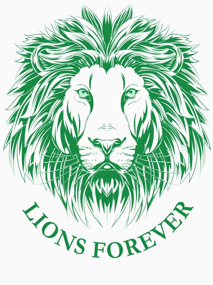 Lions Forever (Grün auf Weiß) von teenerd