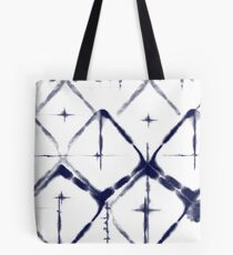 Shibori Diamond Tote Bag