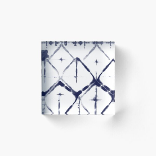 Shibori Diamond Acrylic Block