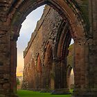 Sunrise at Sweetheart Abbey. by David Lewins