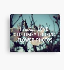 Old Timey Looking Flower Photos Canvas Print