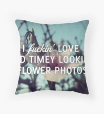 Old Timey Looking Flower Photos Throw Pillow