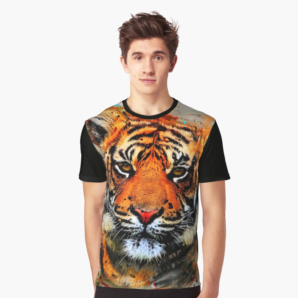TIGER 8 Graphic T-Shirt Front
