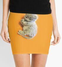 Little fluffy gray lop-eared kitten Mini Skirt