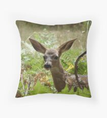 Close up Spotted Fawn~Yosmite Valley Throw Pillow