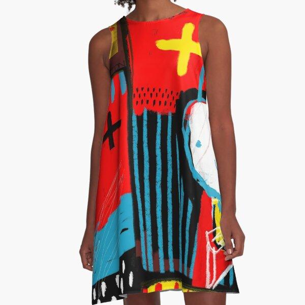 Modernes Kaninchen 11 A-Linien Kleid
