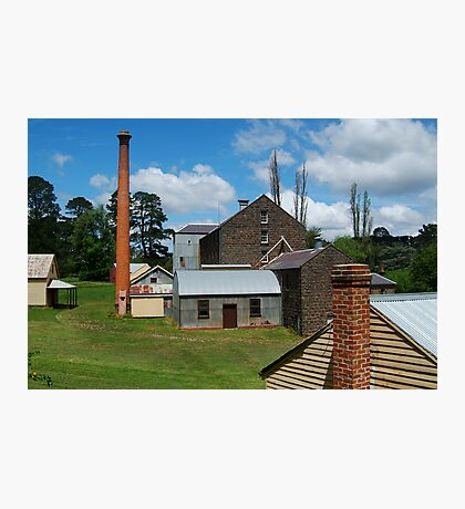 5 Chimney Stacks,Anderson's Mill,Smeaton, Victoria Photographic Print