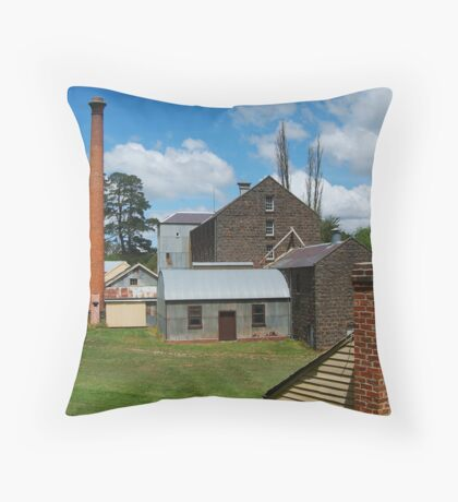 5 Chimney Stacks,Anderson's Mill,Smeaton, Victoria Throw Pillow