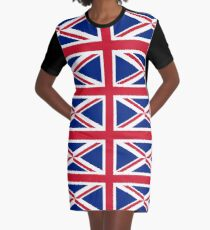 British Flag- Show your love for Great Britain!  Graphic T-Shirt Dress