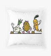 Veggie Run Throw Pillow