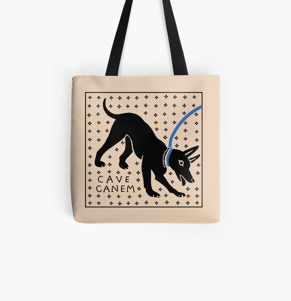 CAVE CANEM All Over Print Tote Bag