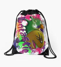 packman-tall Drawstring Bag