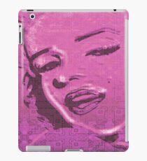 Vintage Glitch Pink Lady iPad Case/Skin