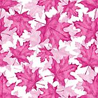 Pink maple leaves by Gribanessa