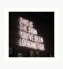Lámina artística Esta es la señal que has estado buscando