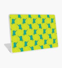 Funny seamless pattern with cute elephants. Laptop Skin