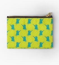 Funny seamless pattern with cute elephants. Studio Pouch