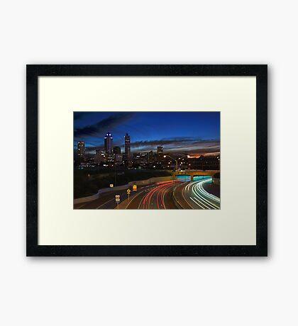 Perth City At Dusk  Framed Print