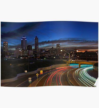 Perth City At Dusk  Poster