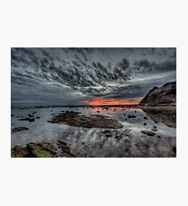 Embers Of Day  - Long Reef Aquatic Park, Sydney - The HDR Experience Photographic Print