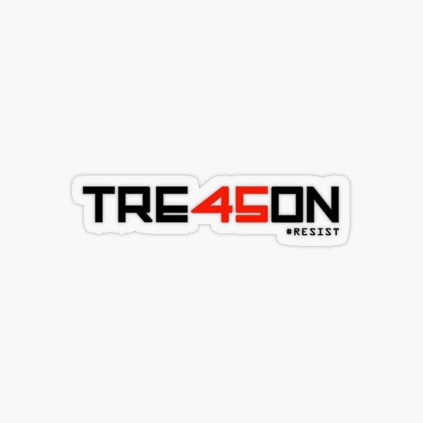 TRE45ON (TREASON) Transparent Sticker