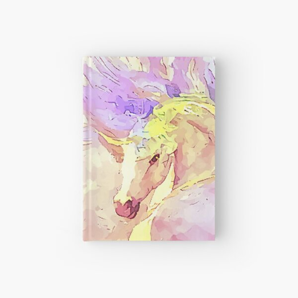Dancing Unicorn Painting in Pastel Rainbow Colors [stunning Gift] Hardcover Journal