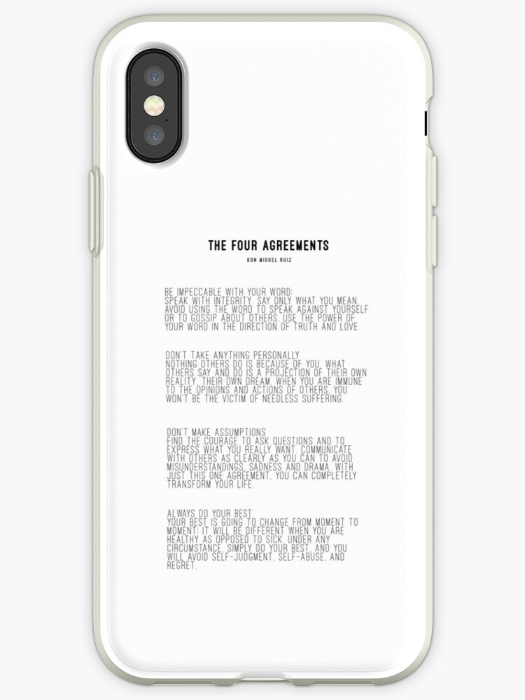 The Four Agreements Iphone Cases Covers By Andreaanderegg Redbubble
