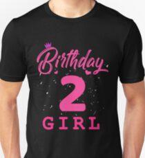 Pink Birthday Girl 2 Unisex T-Shirt