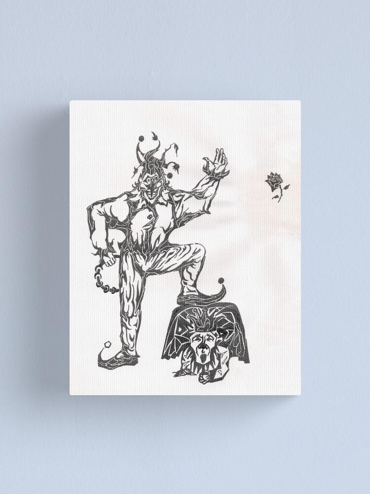 Alternate view of Joker & King Canvas Print