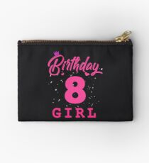 Pink Birthday Girl 8 Studio Pouch