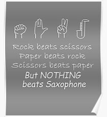 pock paper scissors Nothing beats sax Poster