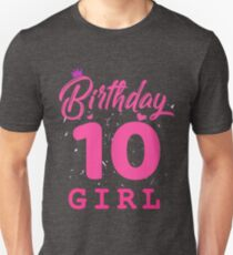 Pink Birthday Girl 10 Unisex T-Shirt